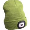Extol sapka, zöld, kötött, kivehető LED homloklámpával, 4×45 Lumen; USB tölthető (Sapka LED)
