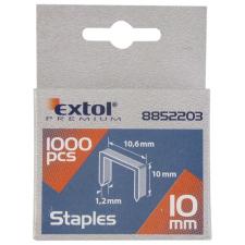 Extol Tűzőgépkapocs profi (10,6×0,52×1,2mm) ; 8mm, 1000db (Kapcsok) gemkapocs, tűzőkapocs