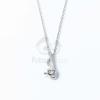 Ezüst bevonatos fehér köves nyaklánc jwr-1356