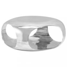 Ezüstszínű öntött alumínium dohányzóasztal 70 x 70 x 32 cm bútor