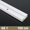 Fa betétes műanyag karnis (GE1) - 1 soros - 150 cm