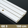 Fa betétes műanyag karnis (GE3) - 3 soros - 180 cm