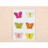 Fa hűtőmágnes pillangó, 6 db-os