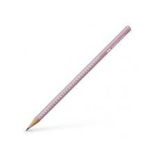 """Faber-Castell Grafitceruza, B, háromszögletű, FABER-CASTELL """"Sparkle"""", gyöngyház rózsaszín ceruza"""