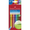 """Faber-Castell Színes ceruza készlet, háromszögletű, FABER-CASTELL \""""Grip 2001\"""", 12 különböző szín [12 db]"""