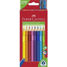 """Faber-Castell Színes ceruza készlet, háromszögletű, FABER-CASTELL """"Jumbo"""", 10 különböző szín színes ceruza"""