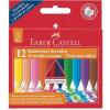 """Faber-Castell Zsírkréta, háromszögletû, FABER-CASTELL """"Grip"""", 12 különbözõ szín"""