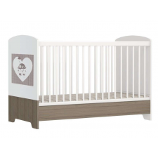 Faktum Poppi átalakítható Kiságy ágyneműtartóval, rágásvédővel 70x140cm - Maci #fehér kiságy, babaágy