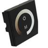 Fali LED fényerő szabályzó (DM01) - 96 Watt - fekete