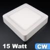 FALON kívüli LED panel 15 Watt (négyzet, ívelt) hideg fény