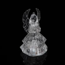 Family LED akril angyal akasztóval - 4 féle - RGB - 8,5 x 5 cm - 12 db / display karácsonyi dekoráció