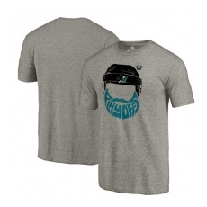 Fanatics Apparel San Jose Sharks fĂŠrfi póló 2017 Stanley Cup Playoffs Participant Full Beard Tri-Blend - XL