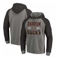 Fanatics Branded Anaheim Ducks fĂŠrfi kapucnis pulóver grey Timeless Collection Antique Stack Tri-Blend Raglan - S