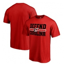 Fanatics Branded Carolina Hurricanes fĂŠrfi póló red Hometown Defend - XXXL