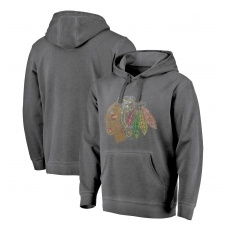 Fanatics Branded Chicago Blackhawks fĂŠrfi kapucnis pulóver grey Shadow Washed Logo - XL
