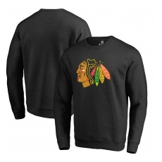 Fanatics Branded Chicago Blackhawks fĂŠrfi pulóver black Primary Team Logo - M