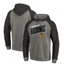 Fanatics Branded Chicago Blackhawks fĂŠrfi pulóver Grey Slant Strike Hoodie Tri-Blend - S