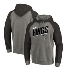 Fanatics Branded Los Angeles Kings fĂŠrfi kapucnis pulóver Grey Slant Strike Hoodie Tri-Blend - M