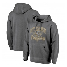 Fanatics Branded Pittsburgh Penguins fĂŠrfi kapucnis pulóver grey Shadow Washed Logo - L
