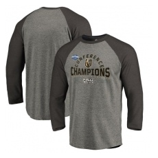 Fanatics Branded Vegas Golden Knights fĂŠrfi póló grey 2018 Western Conference Champions Boarding Raglan Long Sleeve T