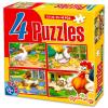 Farm állatos 4 az 1-ben puzzle