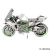 Fascinations Metal Earth ICONX Kawasaki Ninja H2R (ezüst/zöld)