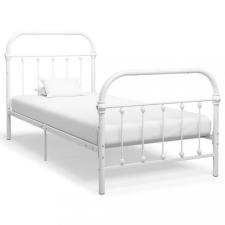 Fehér fém ágykeret 90 x 200 cm ágy és ágykellék