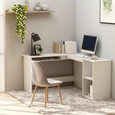 Fehér forgácslap L-alakú sarok-íróasztal 120 x 140 x 75 cm íróasztal
