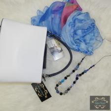 Fehér-kék kézitáska kézitáska és bőrönd