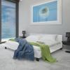 Fehér Műbőr Ágykeret 140 x 200 cm