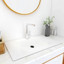 Fehér SMC beépíthető mosdókagyló 600 x 460 x 130 mm barkácsolás, csiszolás, rögzítés