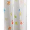 Fehér voila kész függöny színes mintával, M./0016/Cikksz: 01150124