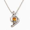 Fehérarany bevonatos nyaklánc köves medállal narancs jwr-1241