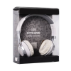 Fejhallgató, sztereó ,bőr fülpárnákkal, beépített mikrofonnal, extra mély hangzással, felvevőgombos, fehér, 3,5 univerzális, bliszteres