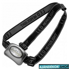 Fejlámpa 5 LED-es, ezüst elemlámpa