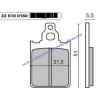 Fékbetét PIAGGIO QUARTZ / ZIP RMS 0160
