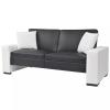 Fekete, dönthető, karfás PVC kanapéágy