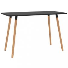 Fekete fém étkezőasztal 120 x 60 x 75 cm bútor