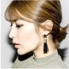 Fekete háromszög mini fekete rojros fülbevaló