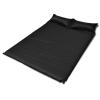 Fekete önfelfújós matrac 190 x 130 5 cm kétszemélyes