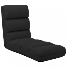 Fekete összecsukható műbőr padlómatrac bútor