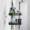 Felakasztható fürdőszobai zuhanypolc, fekete