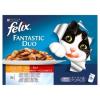 Felix Fantastic Duo Házias Válogatás állateledel macskáknak aszpikban 12 x 100 g