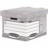 """FELLOWES Archiváló konténer, karton, standard, """"BANKERS BOX® SYSTEM by FELLOWES®"""", szürke/fehér, 2 db/csomag"""