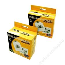 FELLOWES CD/DVD boríték, papír, ablakos, FELLOWES, fehér (IFW90690) boríték