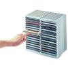"""FELLOWES CD-tároló, automata kiemelőrendszerű, 30+18 db-os, FELLOWES """"Spring"""", szürke"""