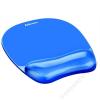 FELLOWES Egéralátét csuklótámasszal, géltöltésű, FELLOWES Crystals™ Gel, kék (IFW91141)