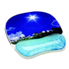 """FELLOWES Egéralátét csuklótámasszal, géltöltésű, FELLOWES """"Photo™ Gel"""", trópusi strand asztali számítógép kellék"""