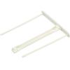 FELLOWES Lefűzőklip, műanyag, fehér, 85 mm, FELLOWES
