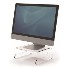 """FELLOWES Monitorállvány, FELLOWES """"Clarity™"""", átlátszó monitor kellék"""